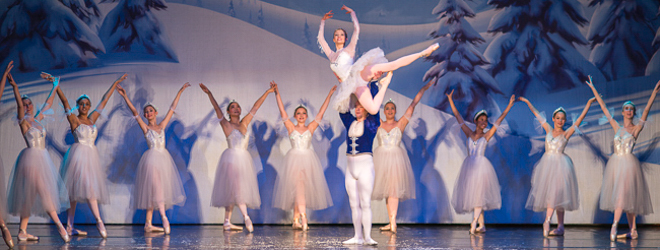 2012 Nutcracker Ballet - Snow Scene - Ballet America - Fox Theatre - Redwood City